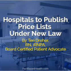Hospitals to Publish Price Lists Under New Law